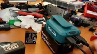 Cordless drill battery powered camera