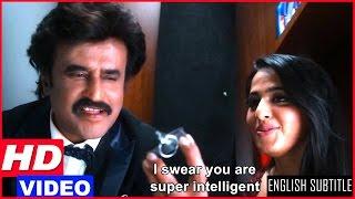 Lingaa Tamil Movie Scenes HD | Rajinikanth and Anushka get locked in the jewellery | Santhanam