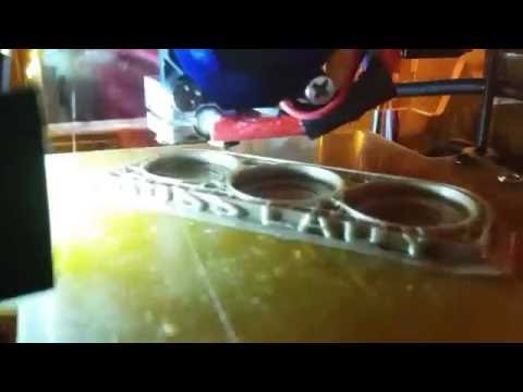 Almost Brass Knuckles PLA [More rigid.ink testing time lapse]