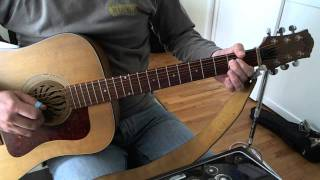 Back In Black Intro/ Verse Gutar Lesson (on acoustic)