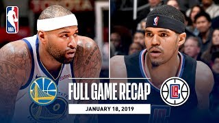 Full Game Recap: Warriors vs Clippers | DeMarcus Cousins