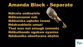 Amanda Black  Separate (Lyrics)