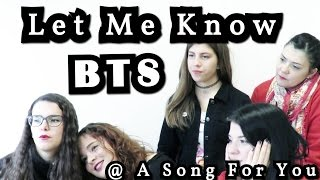 [Full live] BTS - Let Me Know @ A Song For You Reaction