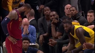LeBron mocks Lance Stephenson for foul trouble, walks all the way to Pacers bench with him