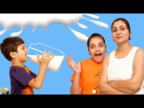 Xxx Mp4 MORAL STORY FOR KIDS DOODH MILK CHALLENGE Fun Kids Bloopers Aayu And Pihu Show 3gp Sex
