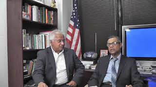 Hasan Mahmud with Dr Mike Ghouse. Society with no fear
