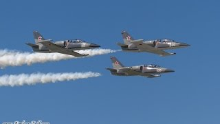Vintage Jets (T-33, T-37, L-39s) Formation and Solo Passes - Wings Over Waukegan 2014
