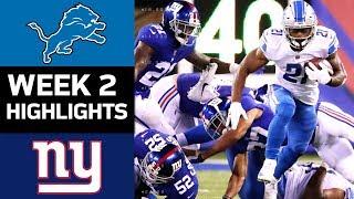 Lions vs. Giants | NFL Week 2 Game Highlights