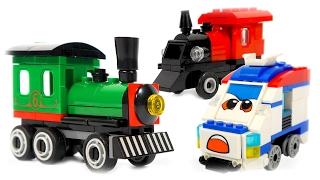 TRAINS FOR CHILDREN VIDEO: Chinense LEGO Brick Builder Steam Train and Mini Train Toys Review