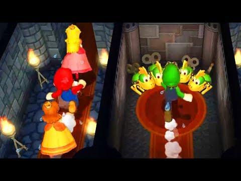 Mario Party 9 Minigames Mario vs Luigi vs Peach vs Daisy Master CPU 1