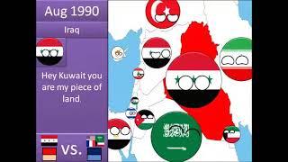 Full Gulf War in Countryballs
