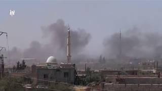 قوات النظام والميليشيات الأجنبية تكثف قصفها على مدينة بصر الحرير وبلدة ناحتة بريف #درعا الشرقي.