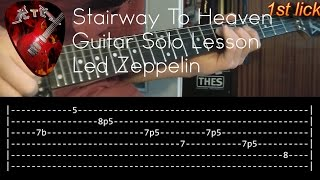 Stairway To Heaven Guitar Solo Lesson - Led Zeppelin with tabs