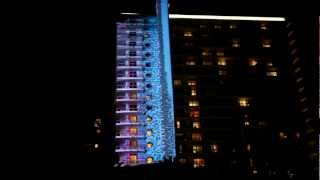iHeartRadio Ultimate PoolParty Building Projection