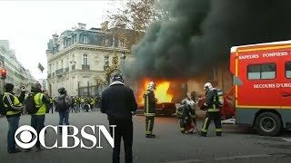 """""""Yellow Vest"""" movement leaders say protests will continue despite Macron"""