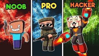 Minecraft - NOOB vs PRO vs HACKER - HUNGER GAMES with GUNS!