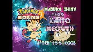 Live! Shiny Kanto Meowth / Mauzi via Masuda Method after 155 Eggs ( Pokemon Sun )