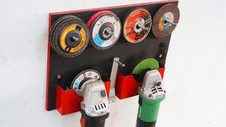 Make A Angle Grinder Holder || DIY Grinder Storage Rack