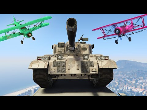 STEAL THE TANK OR DIE GTA 5 Funny Moments