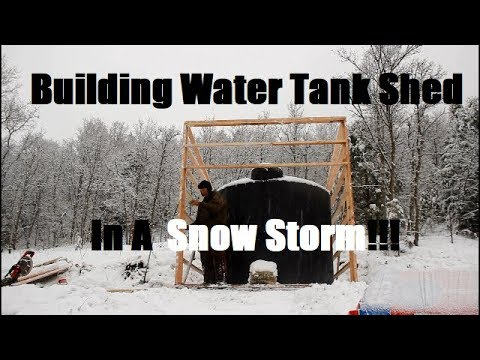 Xxx Mp4 Building Water Tank Shed In Snow Storm Because It Wasn T Hard Enough 3gp Sex