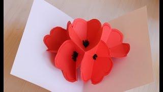 Moederdag bloemenkaart maken (lange versie)