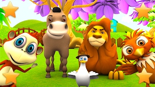 Learn farm animals and animals sounds | 3D Nursery Rhymes & Kids Song Collection by Little Treehouse
