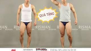 RISMAN - Combo 15 quần lót nam (Tặng 1 áo thun ba lỗ)