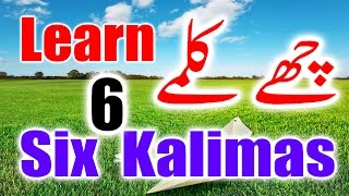 Six 6 Kalimas in Islam in Arabic, English & Urdu - Learn Six Kalimas - Beautiful Zikir & Dua