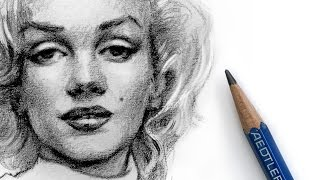 How to Draw Marilyn Monroe with Pencil