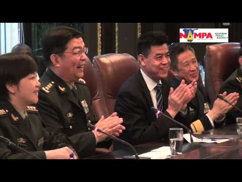 NAMPA: WHK Chinese military aid to Namibia 31 March 2015 md