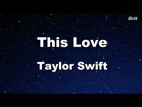 This Love - Taylor Swift Karaoke【No Guide Melody】