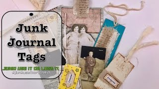 Junk Journal Tags - upcycling product labels & packaging