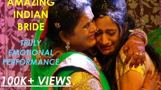 Best Indian Bride Wedding Dance Performance!! Audience Got Emotional!!
