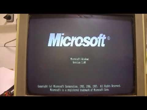 Windows1 1985 PC XT Hercules