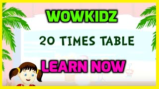 Musical tables - 20 Times Table - HD