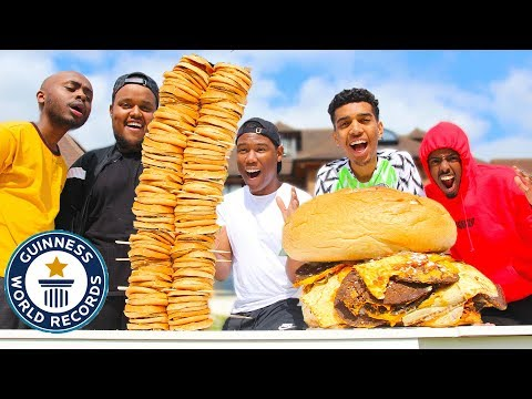 Who Can Make The BIGGEST FOOD Challenge GIANT BURGER