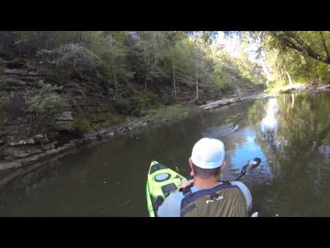 BackWaterKayaker - exploring new water for spotted bass.