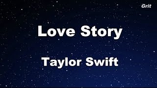 Love Story - Taylor Swift Karaoke【With Guide Melody】