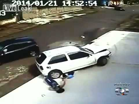 God Is wonderful : Boy and his mom get hit by a car