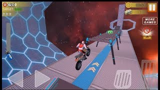 Hill Bike Galaxy Trail World 3 /  Space Bike Racing Action / Android Gameplay FHD #5