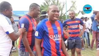 Counselor Lutterodt, Kofi Kinaata and Donzy lose to Turn Up FC in  football gala match