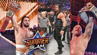 🔴 Live - WWE SummerSlam 2019 | Seth Rollins Vs Brock Lesnar | Roman Reigns Highlights Results