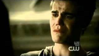 "the vampire diaries - stefan and elena BREAK UP! ""it's over"" scene 2x06"