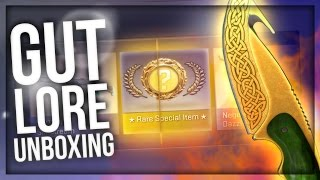 CS:GO UNEXPECTED GUT KNIFE LORE UNBOXING