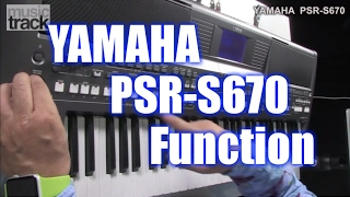 YAMAHA PSR-S670 Demo & Review - Function [English Captions]