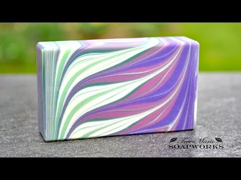 Taiwan Circling Swirl Variation Cold Process Soap Making Technique Video 5