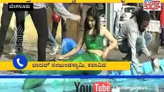Sonu Gowda And Baadhal Nanjunda Swamy | ರಸ್ತೆ ಗುಂಡಿಗಳನ್ನು ಮುಚ್ಚಲು ಜಾಗೃತಿ ಮೂಡಿಸಿದರೆ | Suvarna News