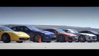 World's greatest drag race 6! Ferrari, Corvette, Mustang, BMW, Porsche, Audi