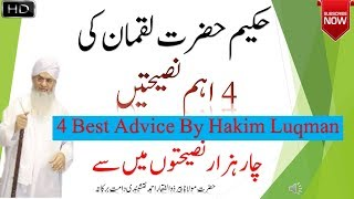 Hakim Hazrat Luqman 4 advice  || 4 tips for all young guys