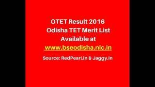 OTET Result 2016 Odisha TET Merit List | OTET Result 2016 | RedPearl